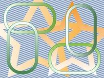 Linhas Ovals das estrelas Fotografia de Stock Royalty Free