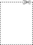 Linhas pontilhadas e fundo das tesouras ilustração stock