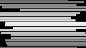 Linhas preto e branco abstratas que movem sobre horizontal ilustração do vetor