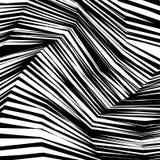 Linhas preto e branco entortadas sumário fundo ilustração royalty free