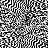 Linhas preto e branco entortadas sumário fundo ilustração stock
