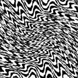 Linhas preto e branco entortadas sumário fundo ilustração do vetor