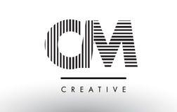 Linhas preto e branco letra Logo Design do CM C M Foto de Stock Royalty Free