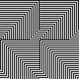 Linhas preto e branco teste padrão Fotos de Stock Royalty Free