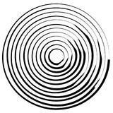 Linhas radiais com distorção de giro Espiral abstrata, redemoinho s ilustração do vetor