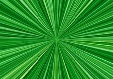 Linhas radiais da velocidade com foco no centro Fundo abstrato do fractal com raios verde-claro Efeito do zumbido ilustração do vetor