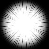 Linhas radiais do fundo em um fundo branco Velocidade da banda desenhada, explosão Sumário Ilustração do vetor para o projeto grá ilustração do vetor