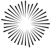 Linhas radiais elemento geométrico do sumário Raios, irradiando a tira ilustração royalty free