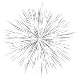 Linhas radiais, explosão da estrela, fundo do sunburst Arrelia, EFF do brilho ilustração stock