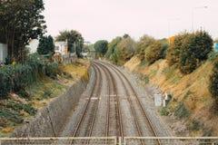 Linhas railway vazias Foto de Stock Royalty Free