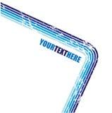 Linhas retas azuis de Grunge Fotografia de Stock Royalty Free