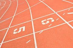Linhas Running da trilha Fotos de Stock Royalty Free