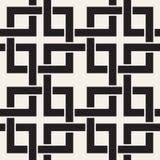 Linhas sem emenda teste padrão do vetor Fundo abstrato com quadrados de entrelaçamento Textura monocromática geométrica da estrut ilustração do vetor