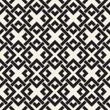 Linhas sem emenda teste padrão do vetor Fundo abstrato com quadrados de entrelaçamento Textura monocromática geométrica da estrut ilustração royalty free
