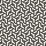 Linhas sem emenda teste padrão do vetor Textura abstrata à moda moderna Repetindo telhas geométricas com elementos da listra ilustração stock