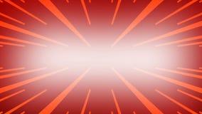 Linhas simples amarelas no fundo vermelho Lasers de incandescência Contexto gráfico do movimento Espaço para seu texto filme