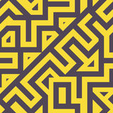Linhas Tangled modernas sem emenda teste padrão ilustração royalty free
