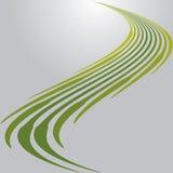 Linhas Verdes. Fundo abstrato do vetor Fotografia de Stock Royalty Free