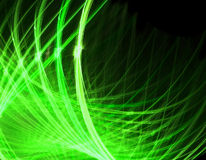 Linhas Verdes na ilustração preta Fotos de Stock Royalty Free