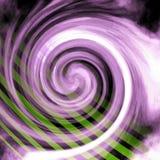 Linhas verdes radiais roxas do redemoinho Imagem de Stock Royalty Free