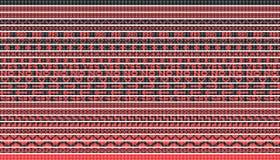 Linhas vermelhas pretas do vetor Imagens de Stock Royalty Free