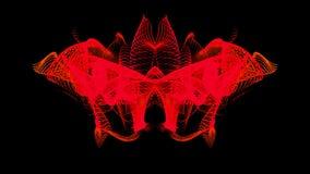 Linhas vermelhas quentes da onda do movimento ilustração do vetor