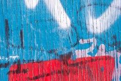 Linhas verticais de descascar a pintura azul Fotos de Stock