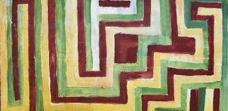 Linhas vibrantes da parede Foto de Stock