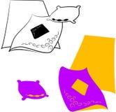 Linho de cama Ilustração Stock