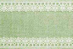Linho e laço verdes Fotografia de Stock Royalty Free