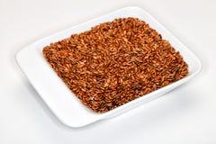 Linho, Flaxseeds Imagem de Stock