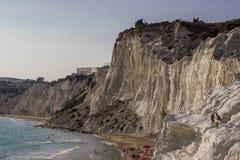Linia brzegowa Agrigento, Sicily Obrazy Stock