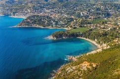 Linia brzegowa blisko Cassis Francja Obrazy Stock