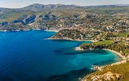 Linia brzegowa blisko Marseille w Francja Obrazy Royalty Free