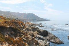Linia brzegowa blisko Monterey, środkowy Kalifornia, usa obraz royalty free