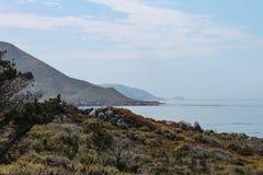 Linia brzegowa blisko Monterey Kalifornia, usa zdjęcia royalty free