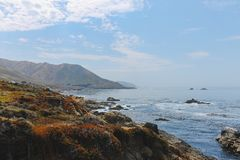 Linia brzegowa blisko Monterey Kalifornia, usa obraz stock