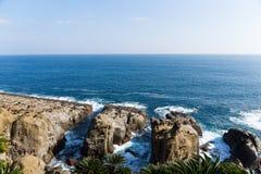 linia brzegowa brzegowego panoramiczny widok rafowy krajobrazu Obraz Royalty Free