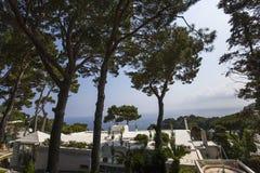 Linia brzegowa Capri wyspa, Capri, Włochy Obraz Stock