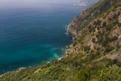 Linia brzegowa Cinque Terre fotografia stock