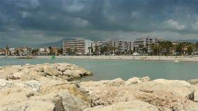 Linia brzegowa Cote D'Azur Francja zbiory