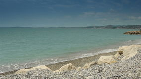 Linia brzegowa Crocs De Gagnes, Cote D'Azur Francja zbiory