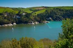 linia brzegowa Dartmouth Devon blisko Zdjęcia Royalty Free