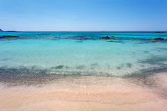 Linia brzegowa Elafonissi plaża crete Grecja Obrazy Royalty Free