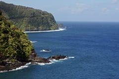 linia brzegowa Hana Maui blisko Fotografia Stock