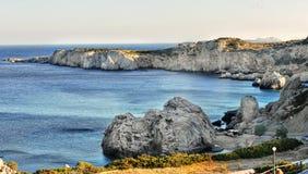 Linia brzegowa - Karpathos wyspa Fotografia Stock