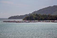 Linia brzegowa Kot Kinabalu w Malezja Zdjęcia Royalty Free