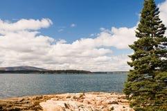 linia brzegowa Maine skalisty Obrazy Royalty Free