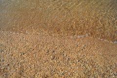 Linia brzegowa, piaskowata plaża, plaża zdjęcie royalty free