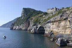 Linia brzegowa Porto Venere w Włochy Obrazy Stock